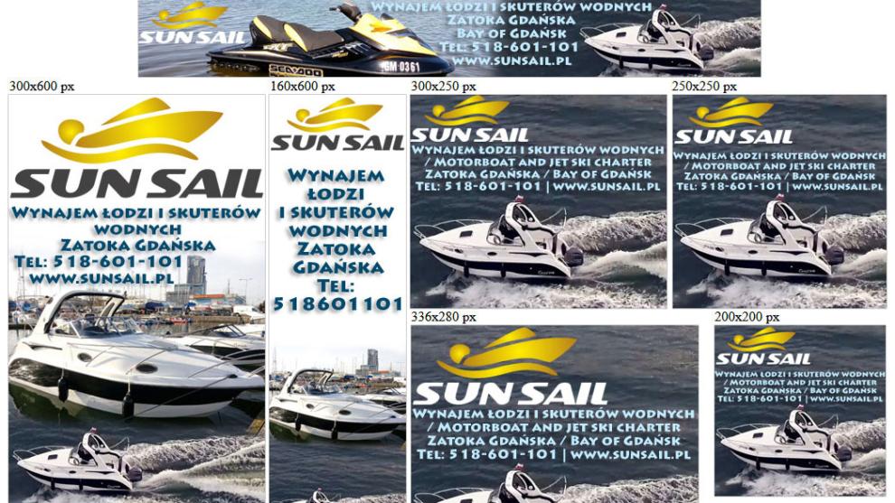 Banery statyczne dla sunsail.pl