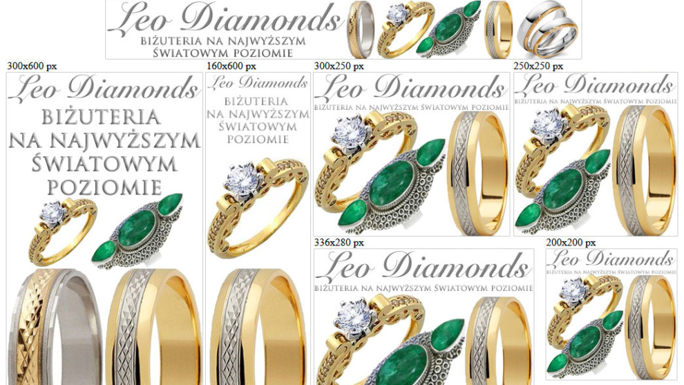 Banery statyczne dla leodiamonds.eu