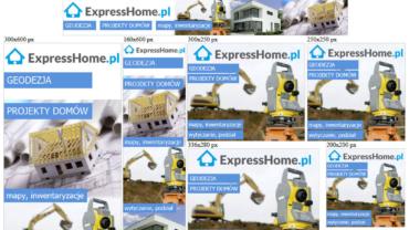 Banery reklamowe dla ExpressHome.pl