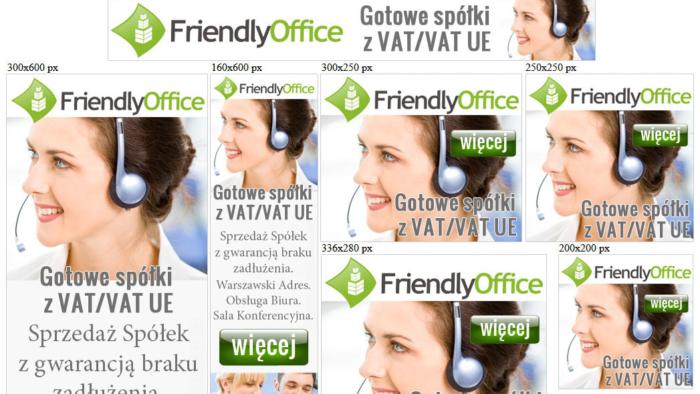 Banery statyczne dla riendly-office.pl