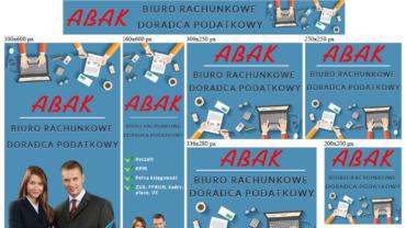 Banery reklamowe animowane HTML5 dla abak24.pl