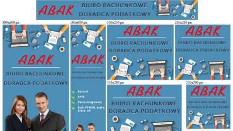 Banery animowane HTML5 dla abak24.pl