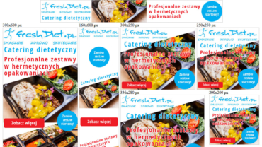 Banery reklamowe animowane HTML5 dla freshdiet.pl