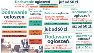 Banery reklamowe (statyczne) dla publikacjaogloszen.pl