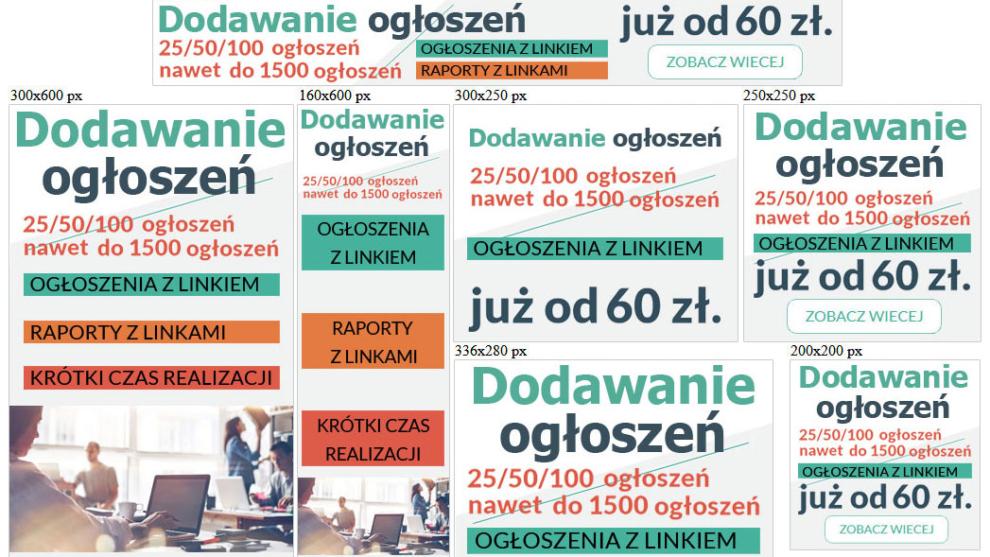 Banery statyczne dla publikacjaogloszen.pl