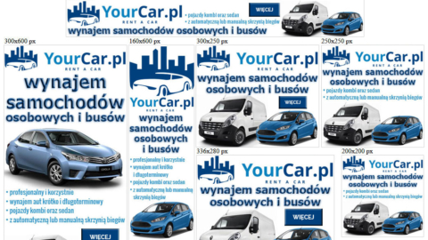 Banery statyczne dla yourcar.pl