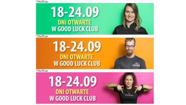 Banery animowane HTML5 dla Good Luck Club Sp. z o. o.