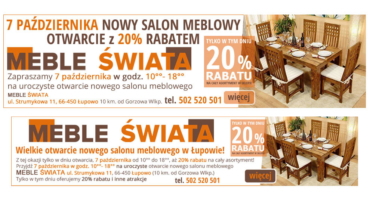 Banery reklamowe (statyczne) dla mebleswiata.com.pl