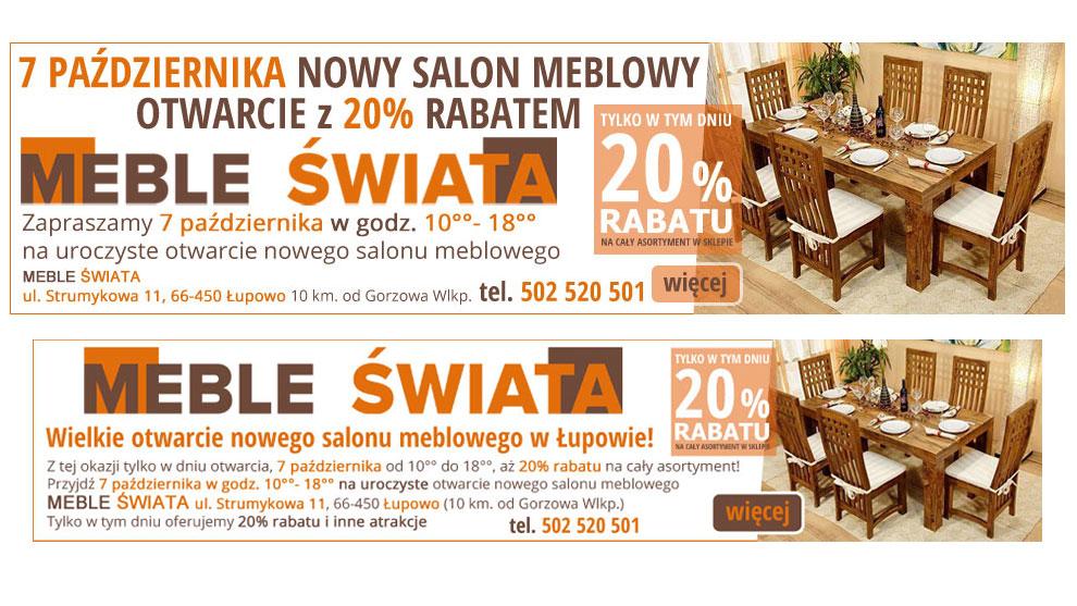 Banery statyczne dla mebleswiata.com.pl