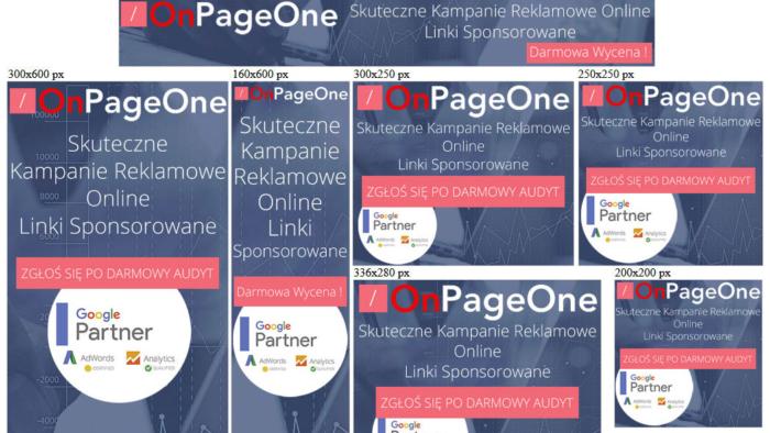Banery statyczne dla onpageone.pl
