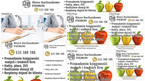 Banery statyczne dla piemon.pl
