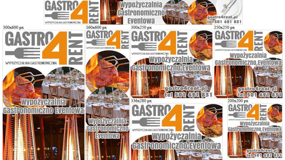 Banery statyczne dla gastro4rent.pl