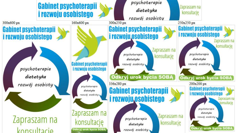 Banery statyczne dla psycholog-dietetyk.pl