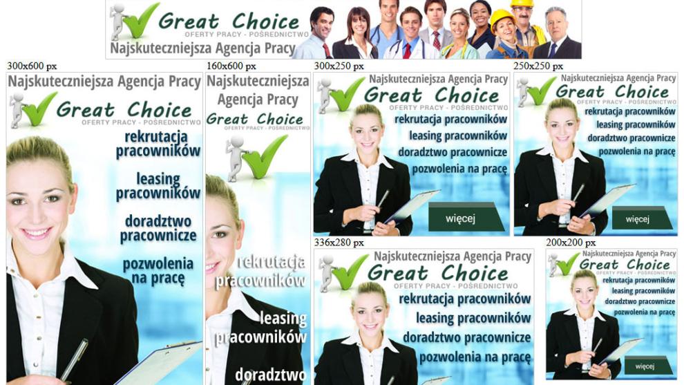 Banery statyczne dla great-choice.pl
