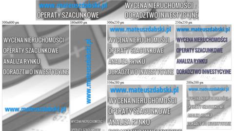 Banery statyczne dla www.mateuszdabski.pl