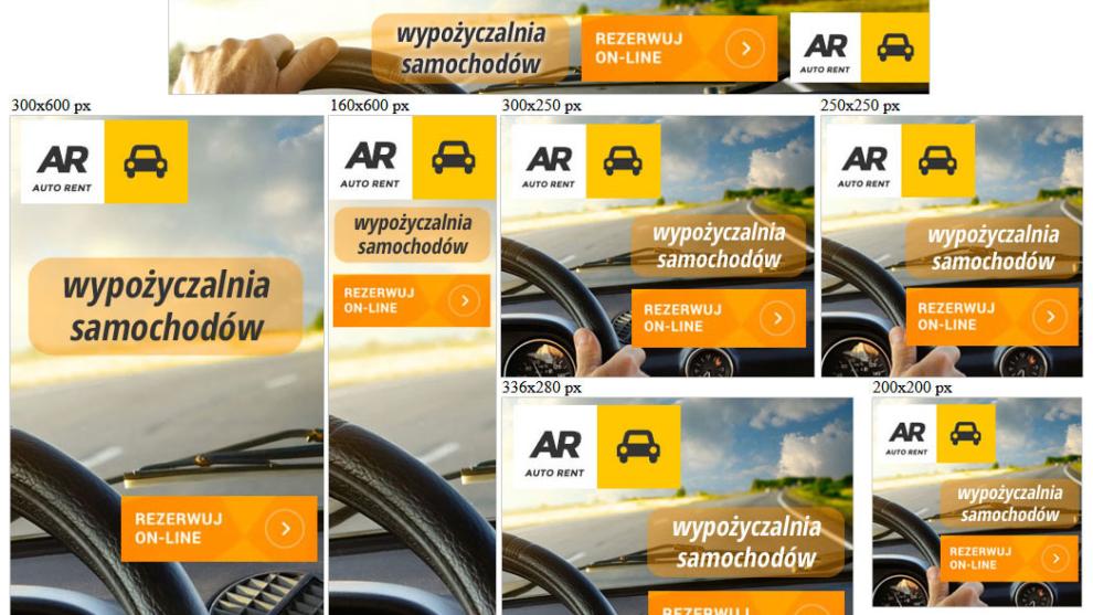 Banery statyczne dla wypozyczalnia365.pl