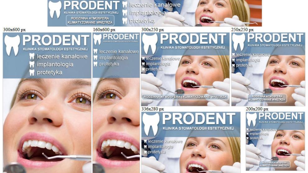 Banery statyczne dla www.prodent.gda.pl