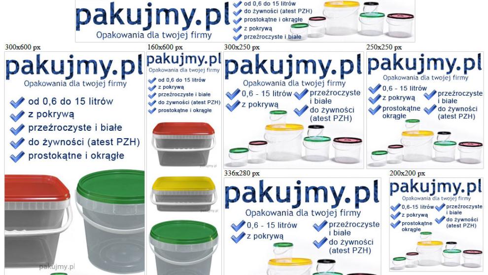 Banery statyczne dla www.pakujmy.pl