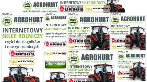 Banery statyczne dla www.sklep-agrohurt.eu