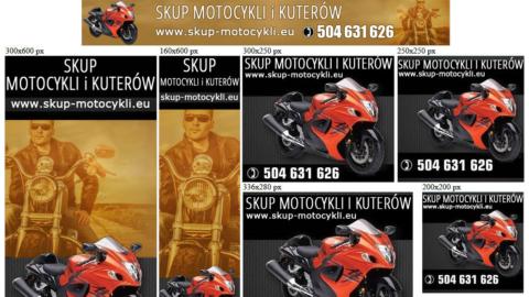 Banery statyczne dla www.skup-motocykli.eu