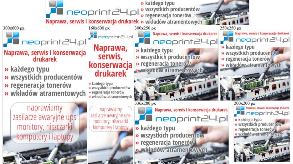 Banery statyczne dla www.neoprint24.pl