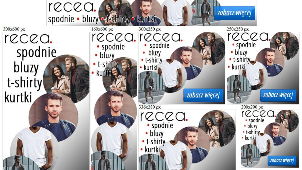Banery statyczne dla www.recea.pl