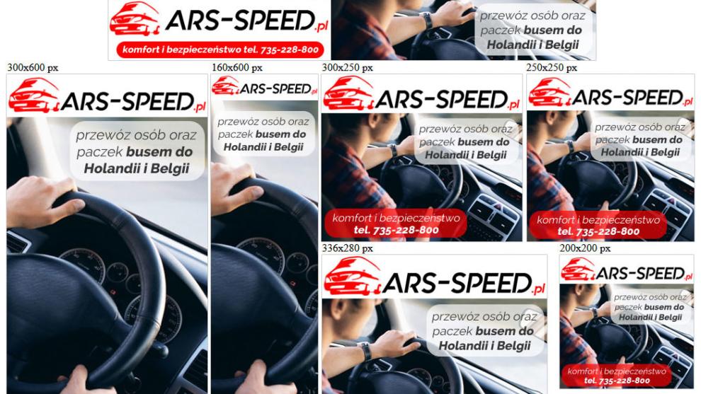 Banery statyczne dla www.ars-speed.pl