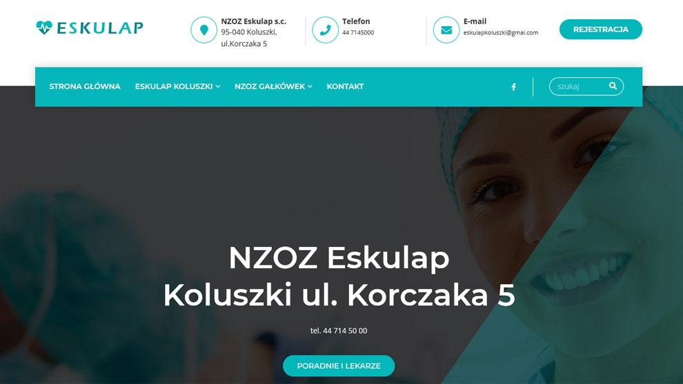 Strona www.eskulapkoluszki.pl