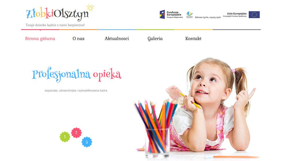 Strona www.zlobki-olsztyn.pl