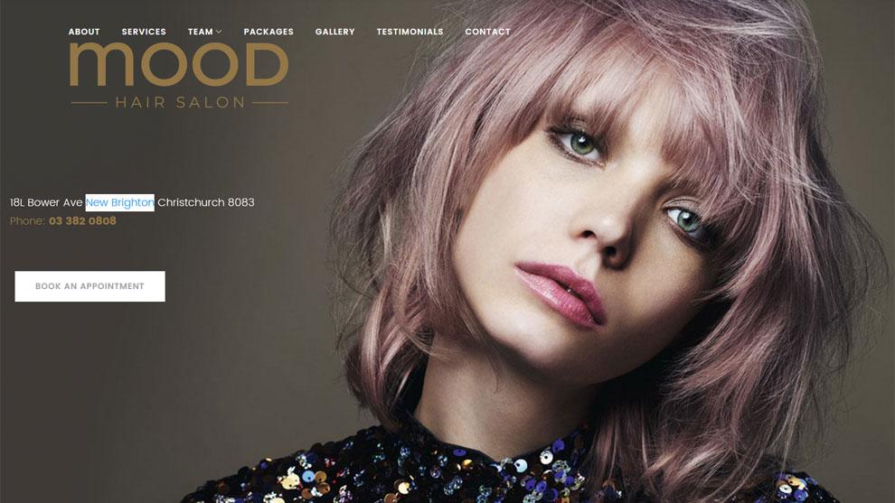 Strona www.moodhair.co.nz