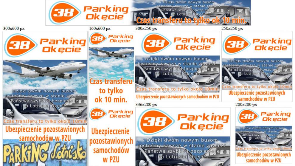 Banery statyczne dla www.parkingokecie24.pl