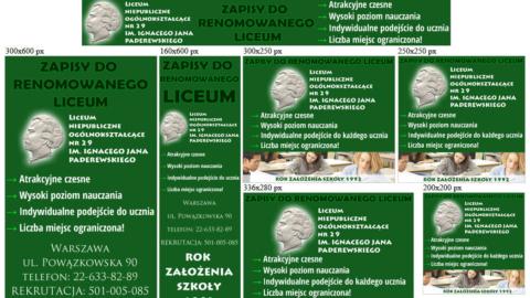 Banery statyczne dla www.liceum-niepubliczne.pl