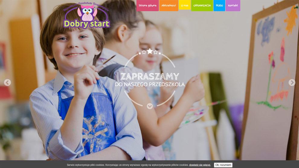 Strona www.przedszkoledobrystart.pl